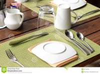 Table Setting For Breakfast Royalty Free Stock Photos ...