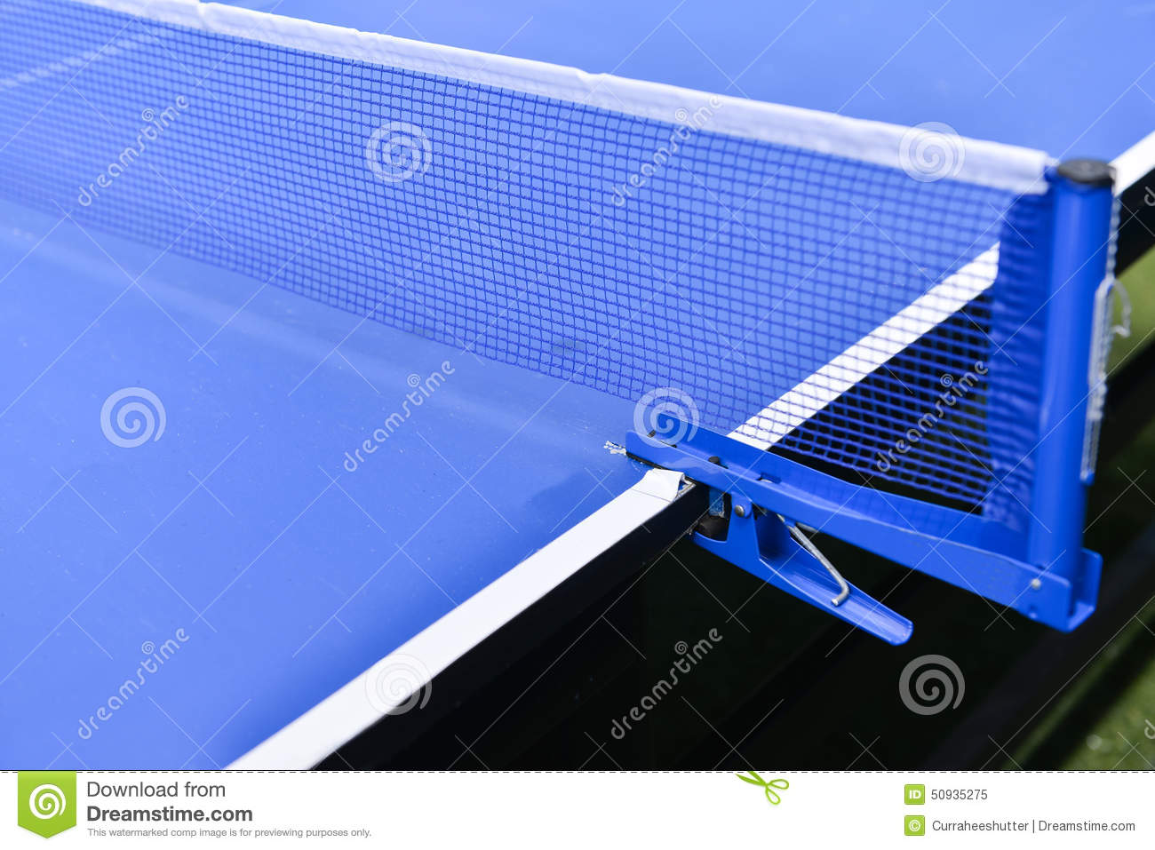 Rede Tenis De Mesa Table Tennis Sport Background Net On Table Tennis Board Stock
