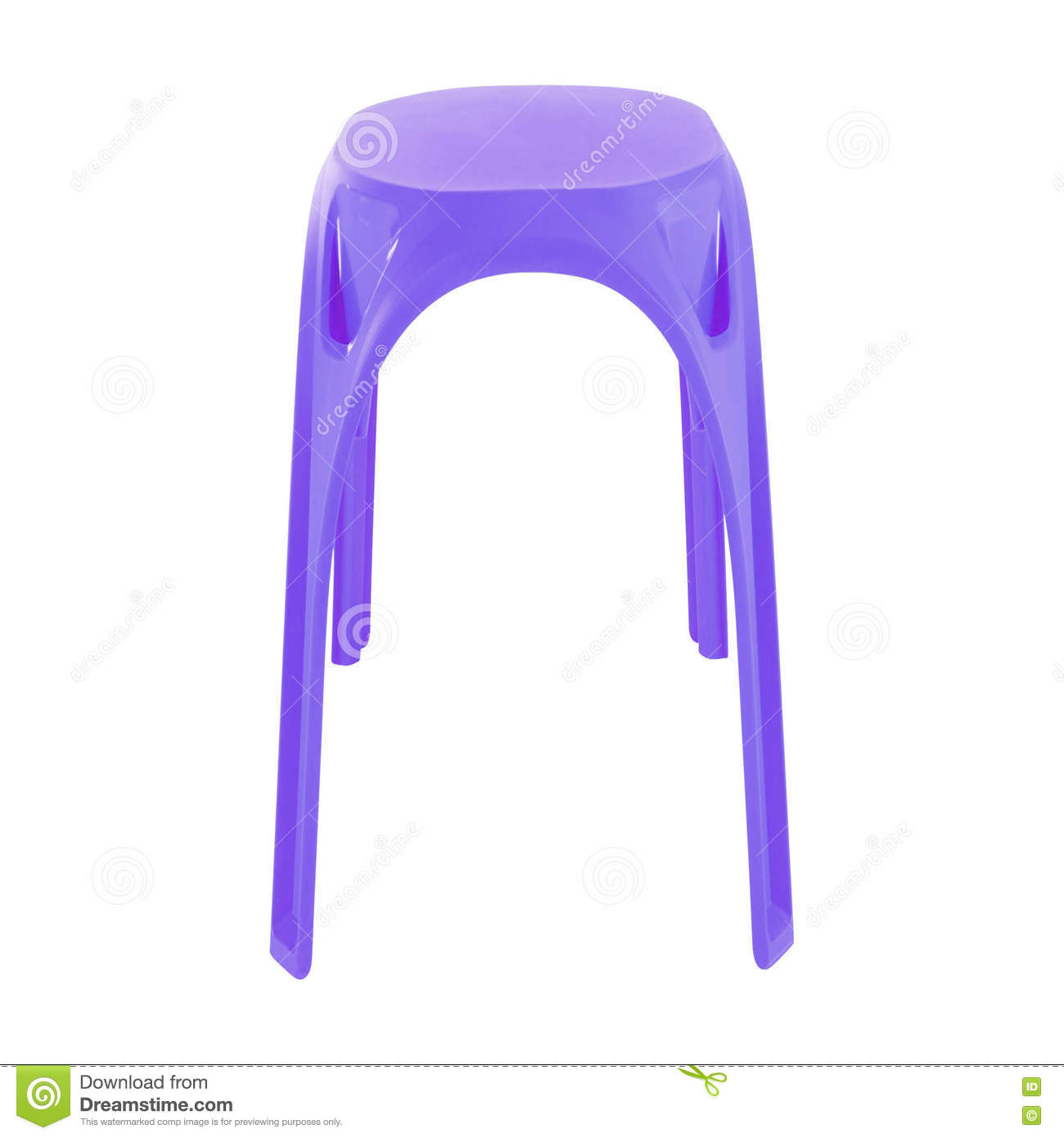 Tabouret Violet D Isolement Photo Stock Image Du Isolement Tabouret 75707914