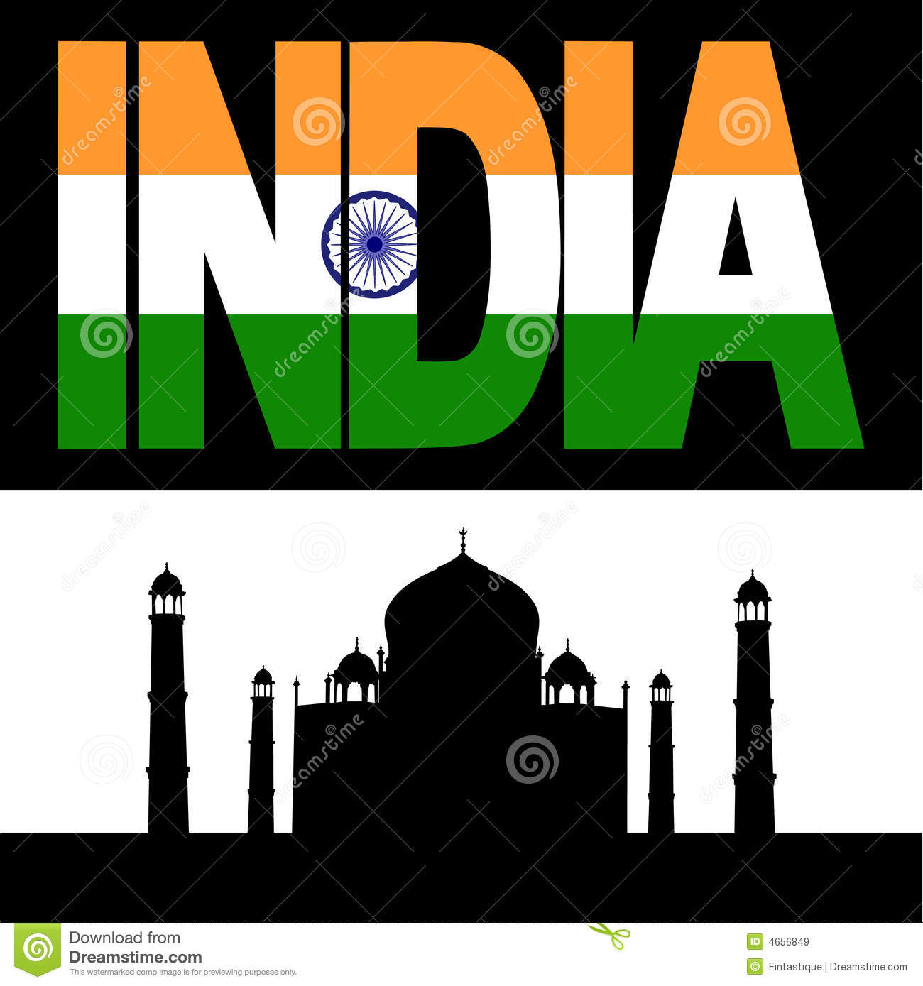 Indian Flag 3d Wallpaper Download Taj Mahal And India Flag Text Royalty Free Stock Images