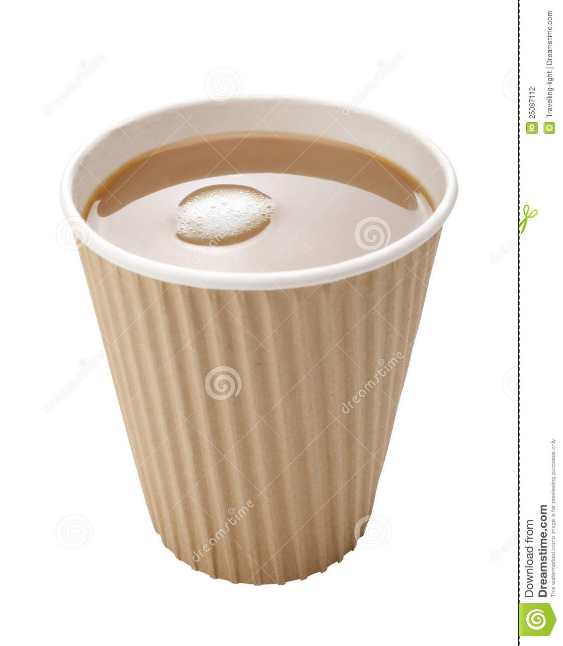 Americano Coffee To Go Takeaway Coffee Disposable Cup Milk Stock Photography