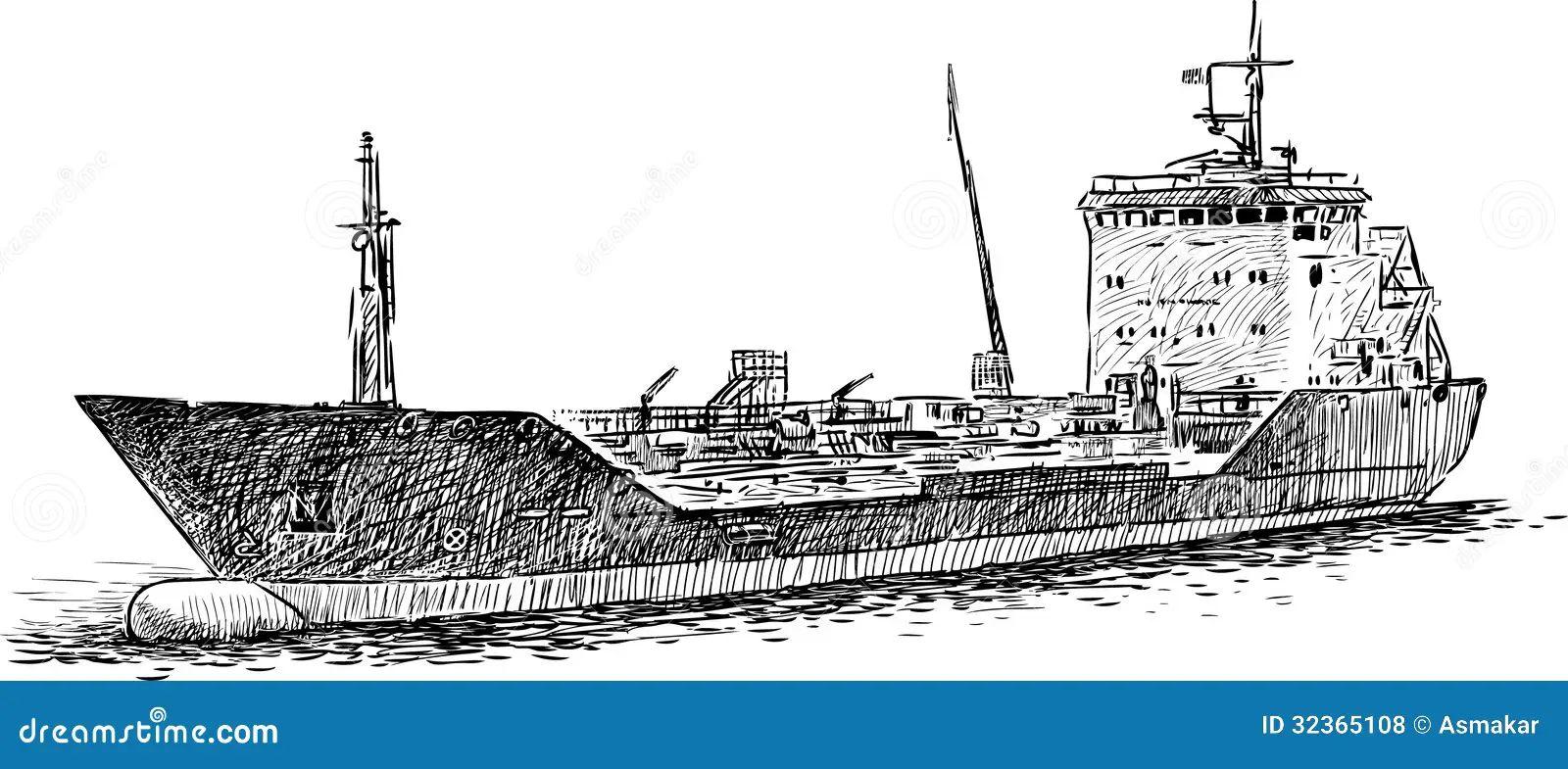 cargo ship diagram