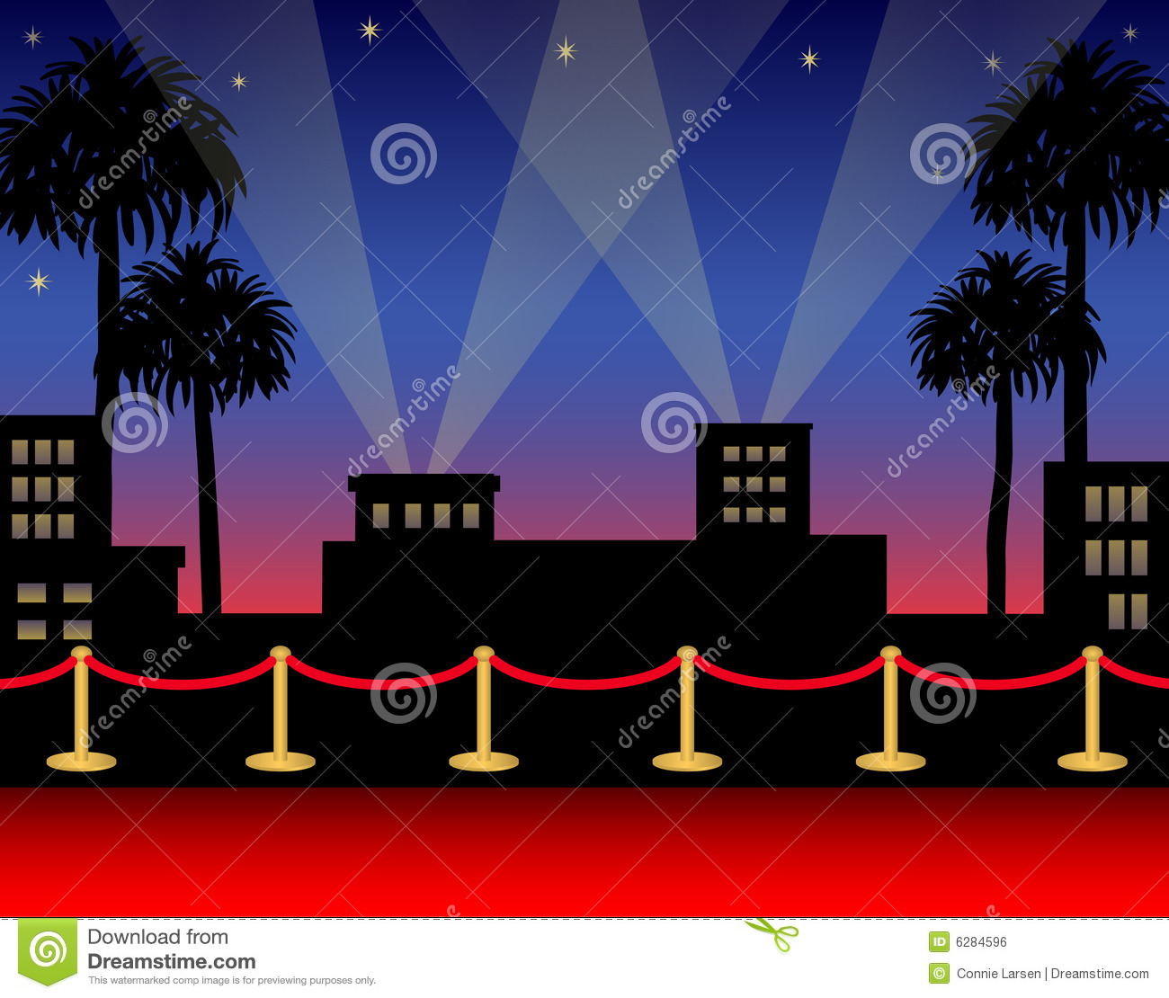 Hollywood Roter Teppich Tapis Rouge De Hollywood Illustration De Vecteur