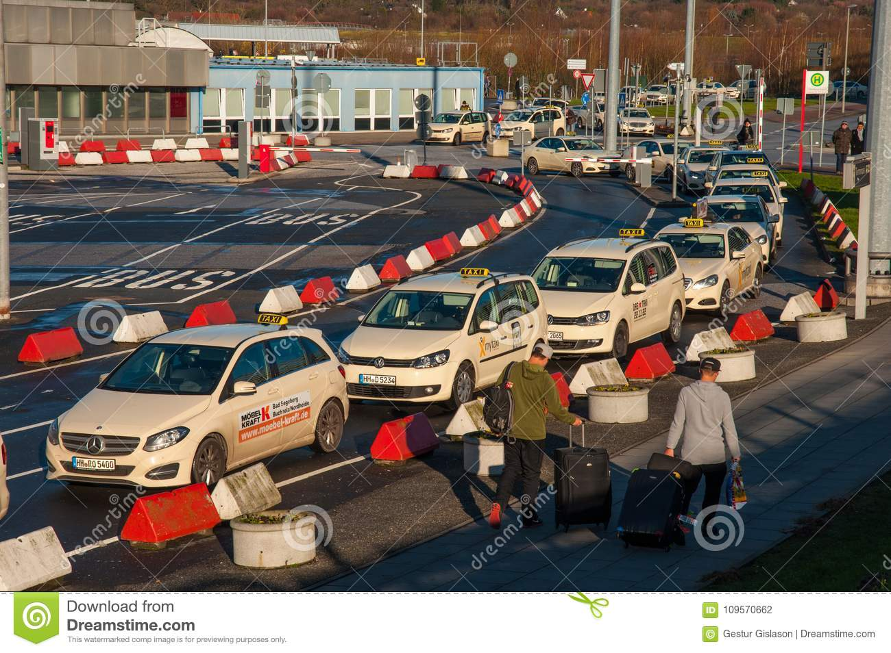 Hamburg Möbel Taxi Line At Hamburg Airport Editorial Photography Image Of