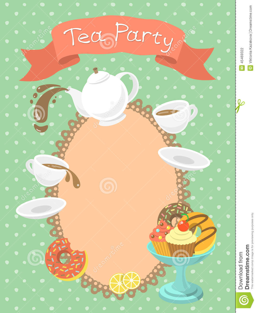 blank tea party invitations
