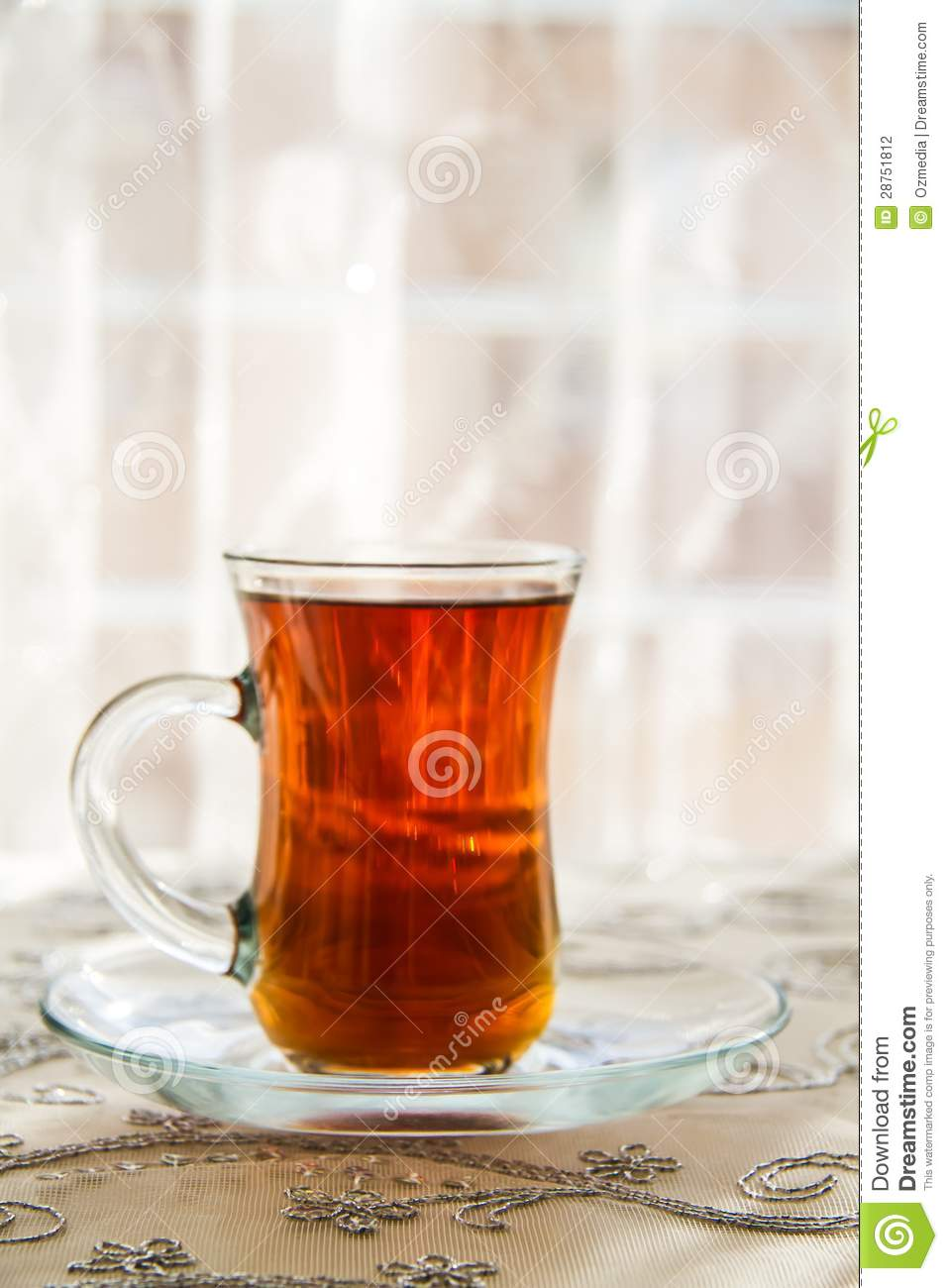 Verre The Tea In A Traditional Turkish Glass Stock Photo Image Of Turkish