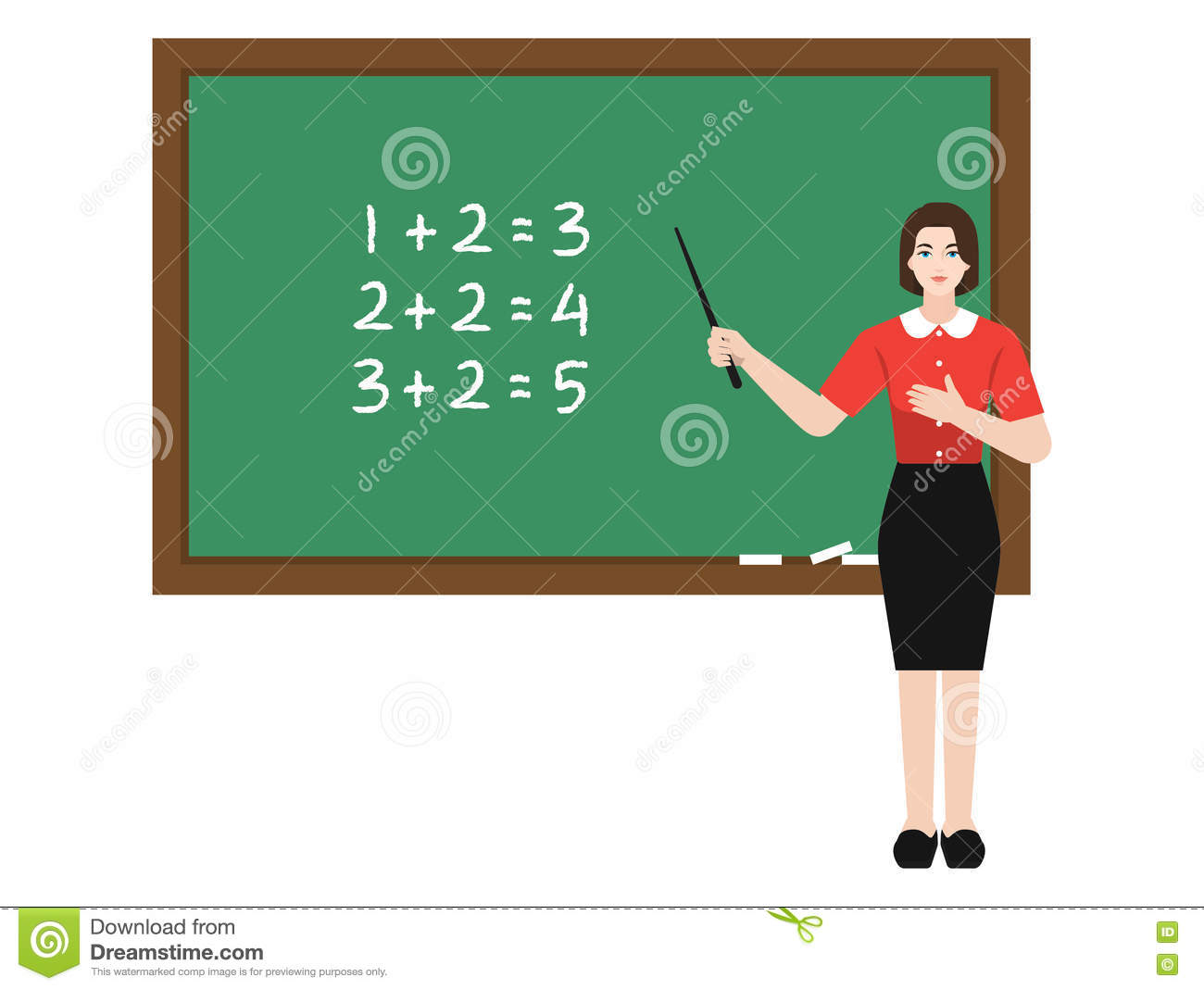 Teaching Maths Teacher Teaching Maths Stock Vector Illustration Of Female 71585147