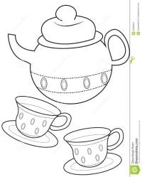 Teacup coloring page stock illustration. Illustration of ...