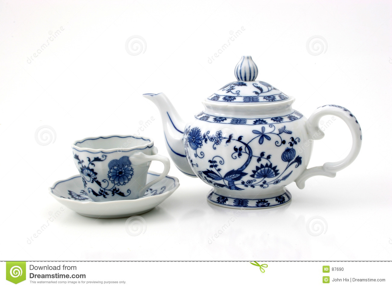 Teapot With Cup Teapot With Cup Stock Photo Image Of Magic Drap Folds 87690