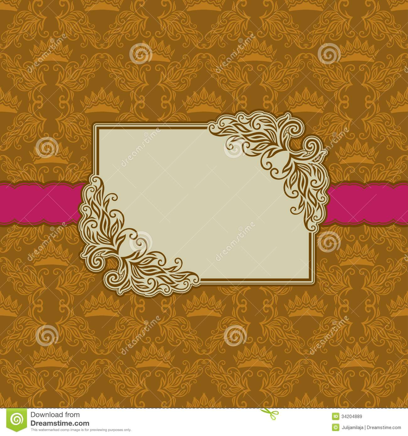 Template Frame Design For Greeting Card . Royalty Free