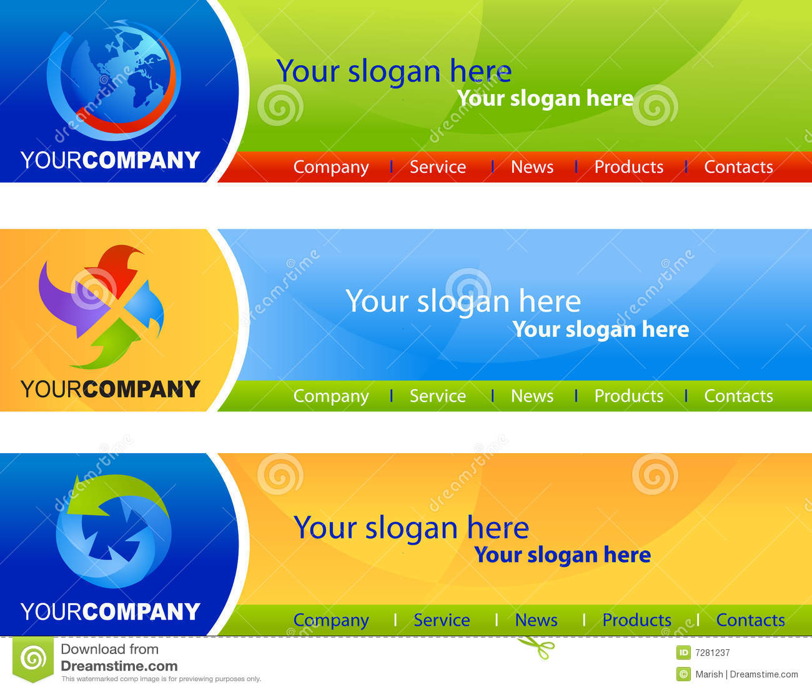 Royalty Free Website Templates. illustration of eco website ...