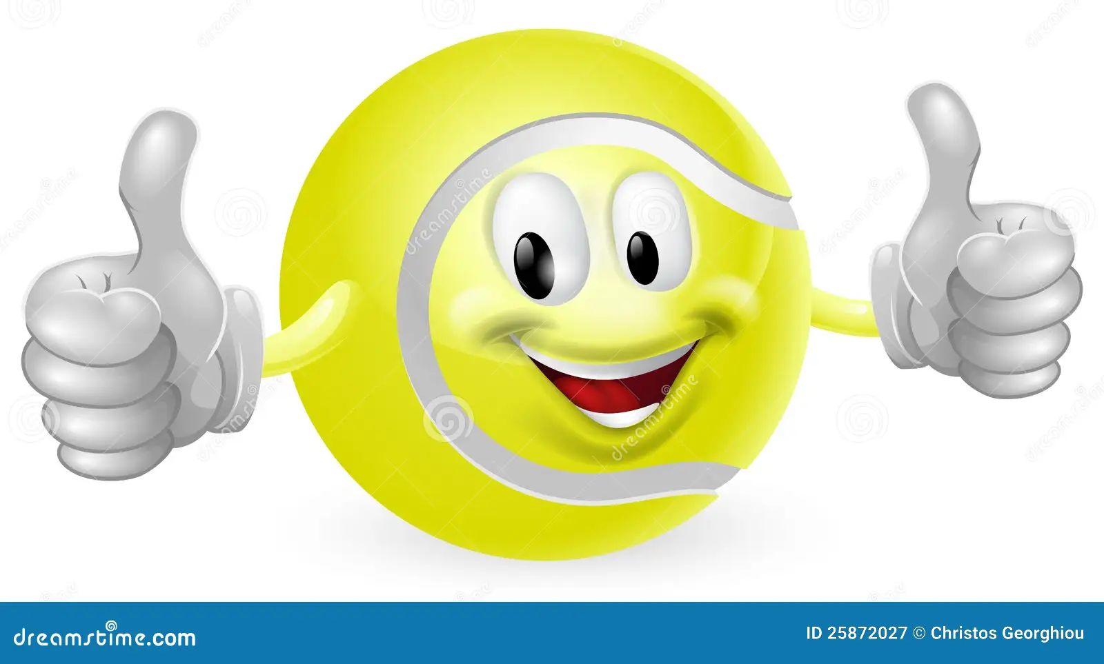 Tennis ball mascot royalty free stock photography
