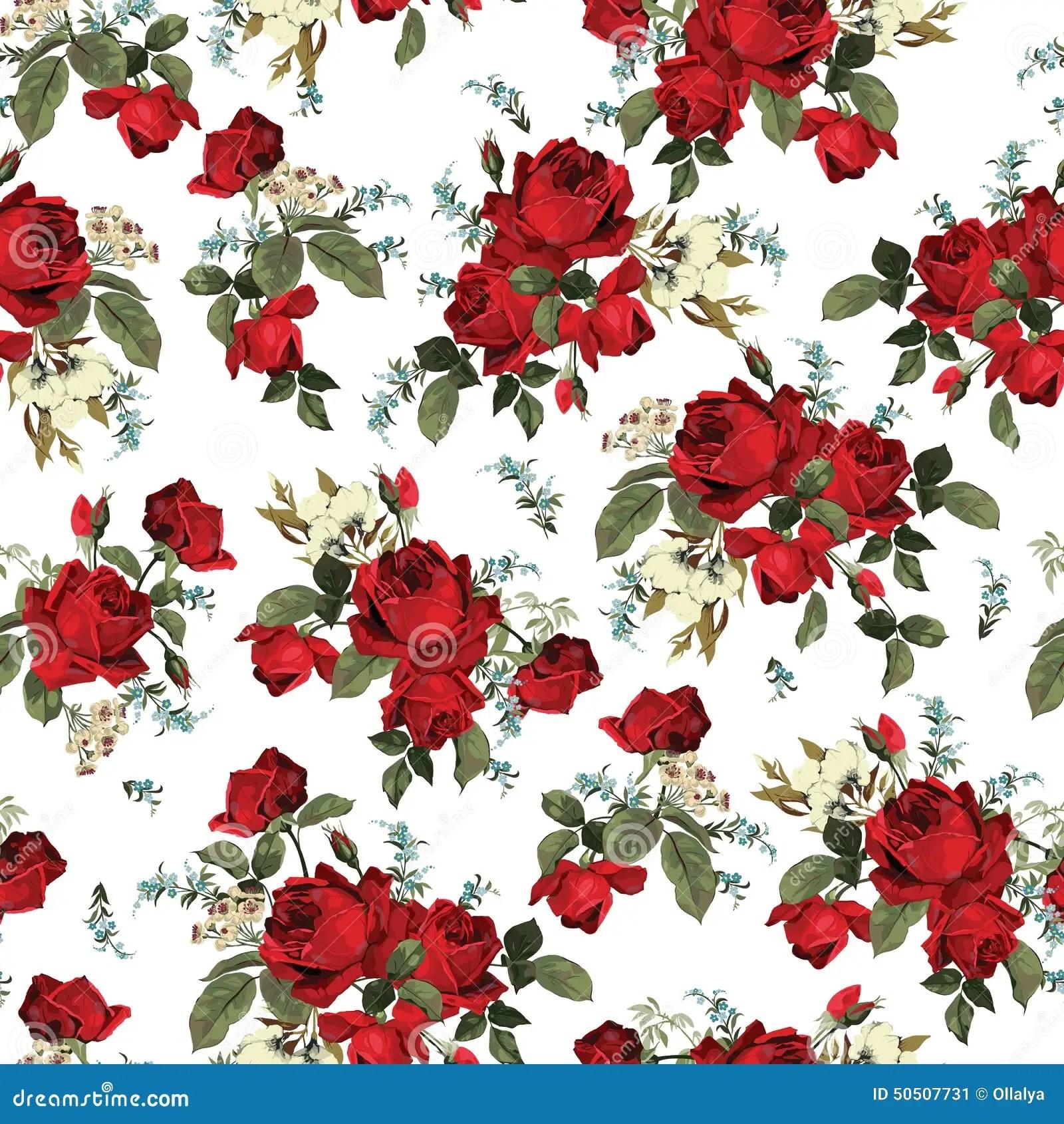 Iphone X Wallpaper With Border Teste Padr 227 O Floral Sem Emenda Com As Rosas Vermelhas No