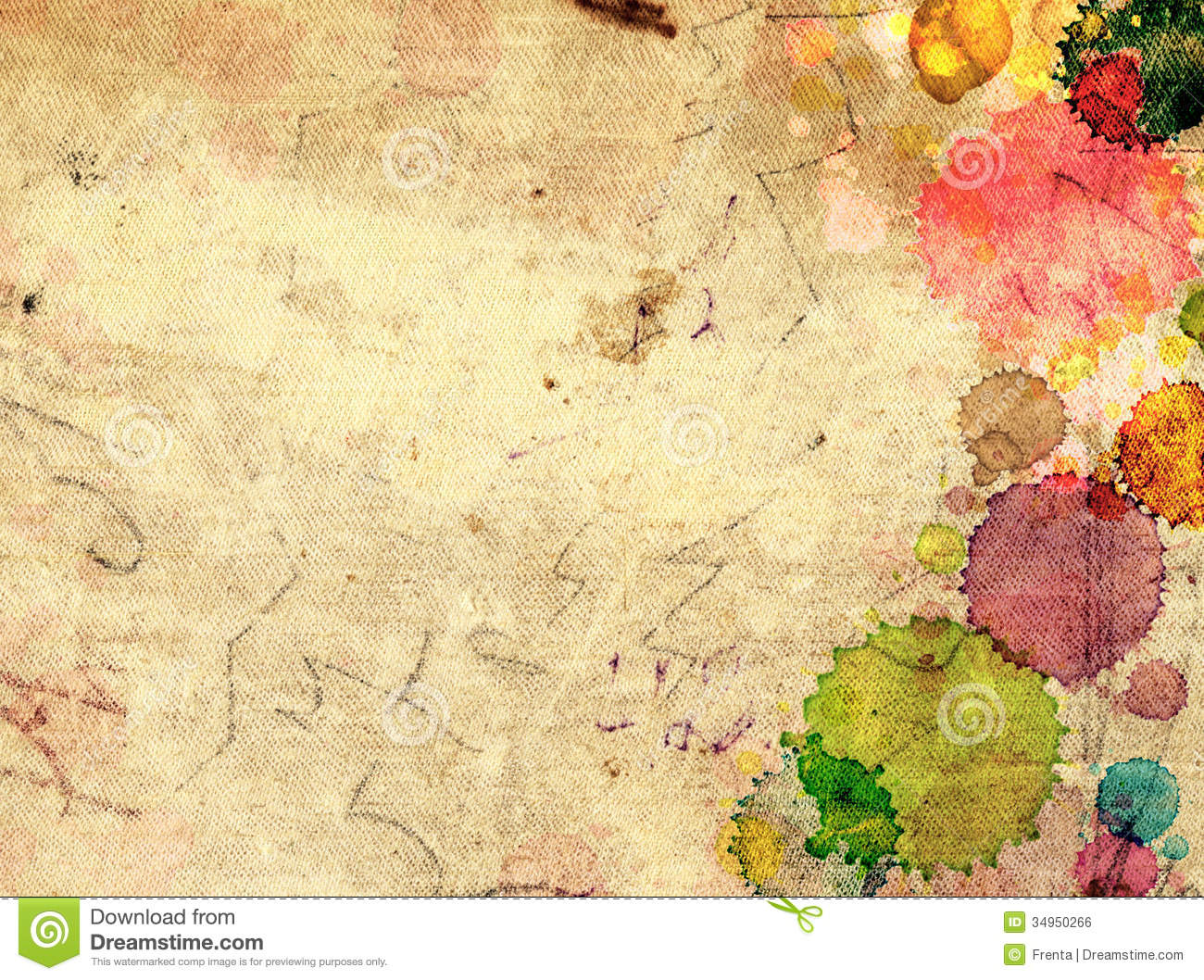 Manchas De Pintura Texture Old Paper With Stains Of Paint Stock Photo Image