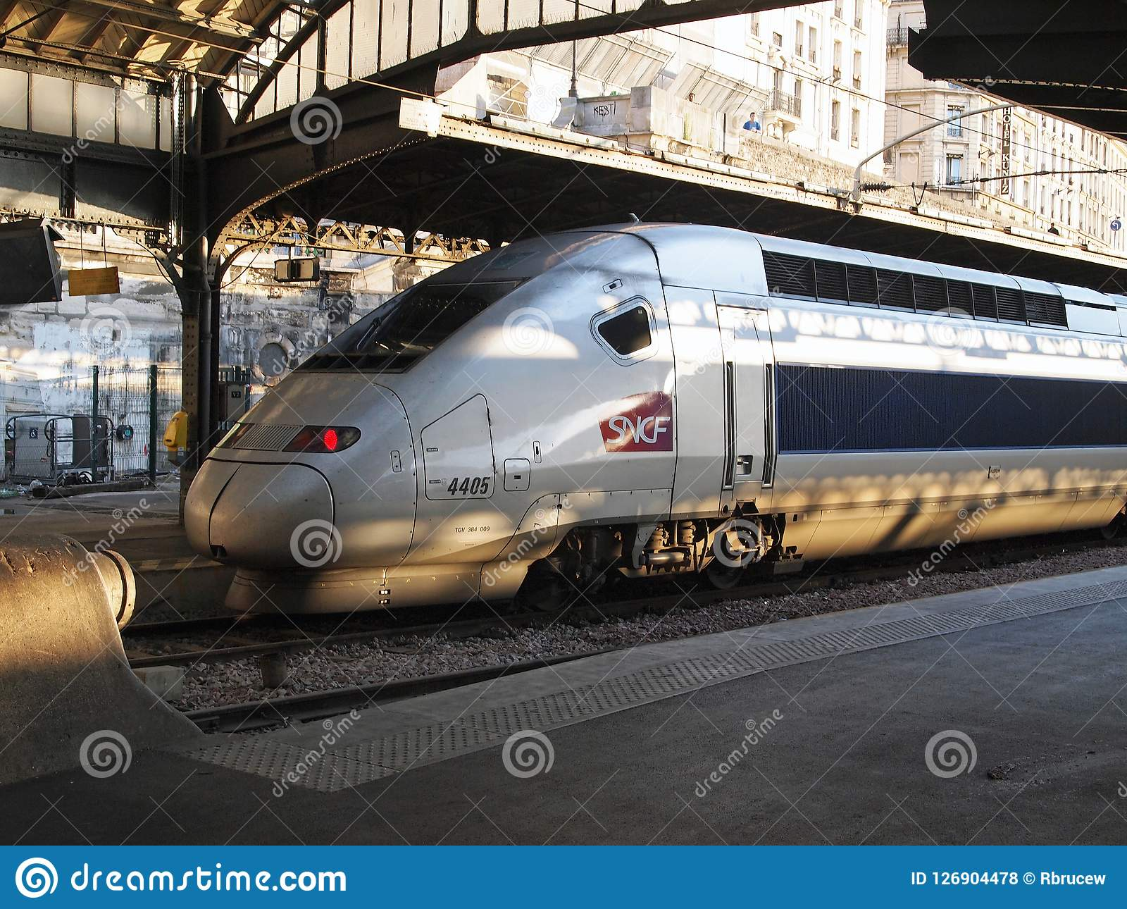 Paris Train Tgv Very Fast Train Gare De Lest Paris France Editorial Stock