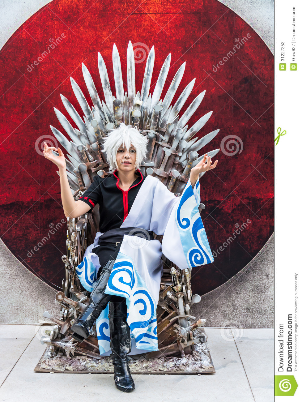 Sofa Woman Thai Cosplayer Dresses As Sakata Gintoki From Gintama In