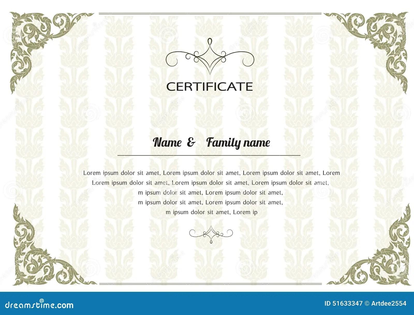 certificate template design cover letter template for resume certificate template design gift certificate templates to make your own certificates thai elegant art frame certificate