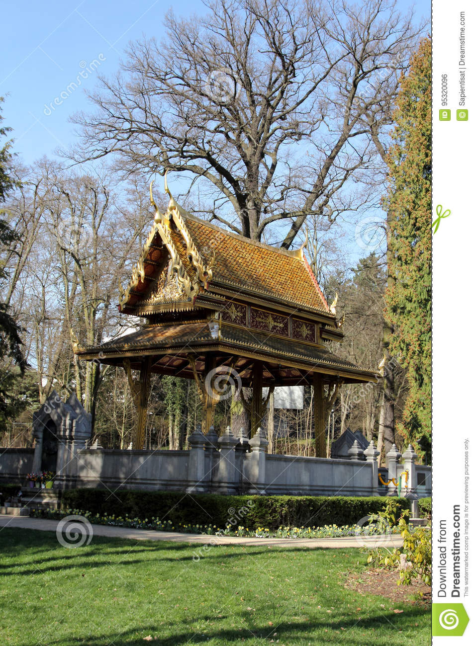 Bad Homburg Thai Salo Temple In Bad Homburg Stock Photo Image Of