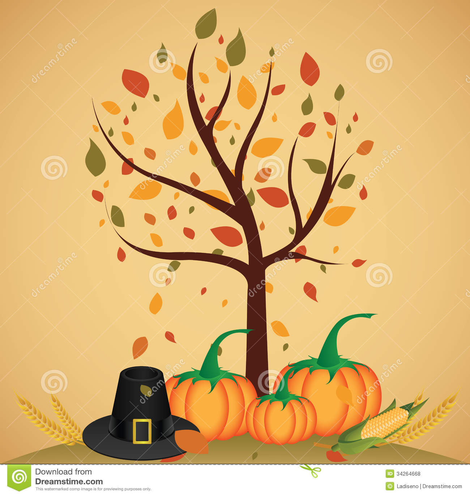 Pumpkins Fall Wallpaper Thanksgiving Day Stock Illustration Image Of Thanksgiving
