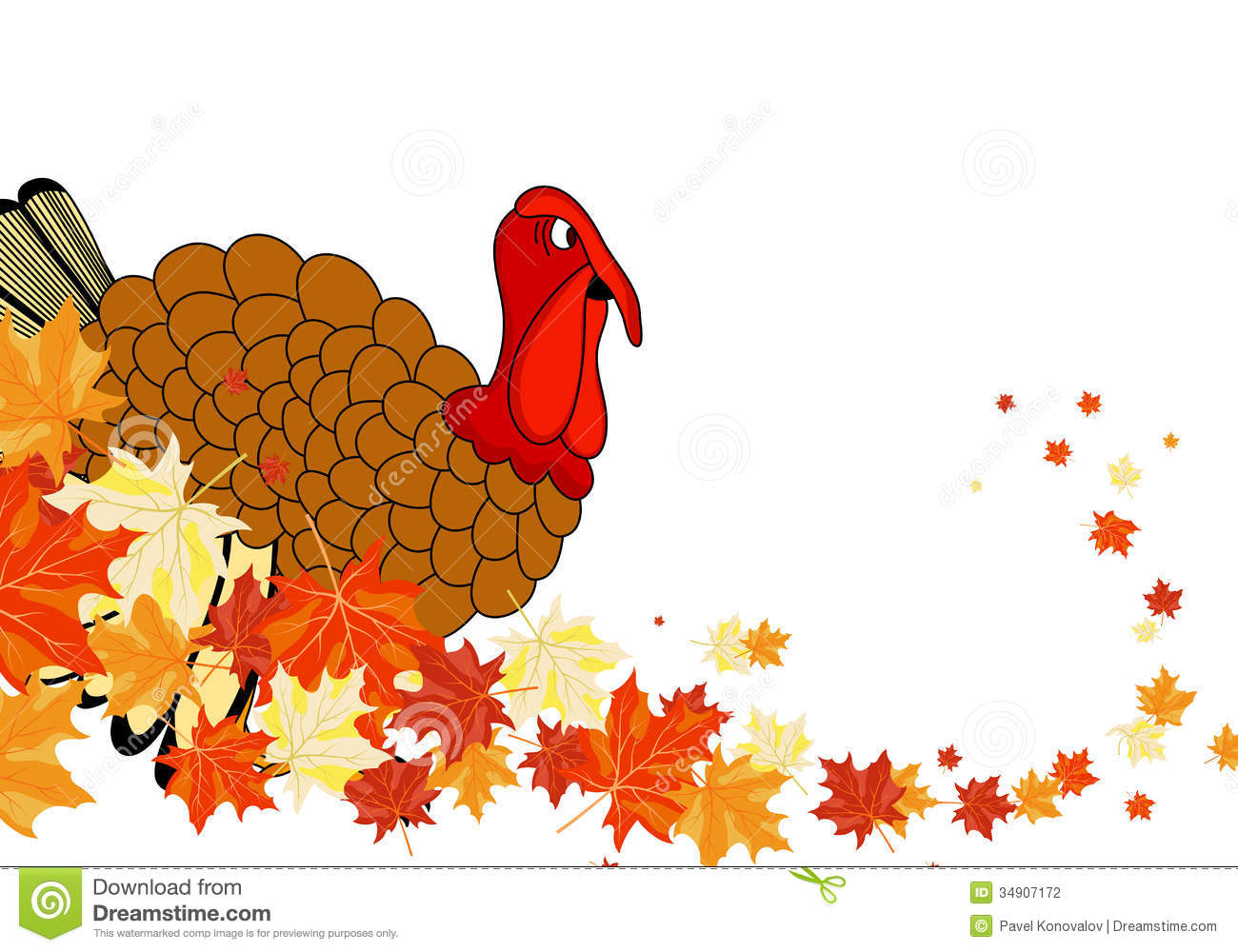 Maple Leaf Wallpaper For Fall Season Thanksgiving Day Stock Vector Image Of Banner