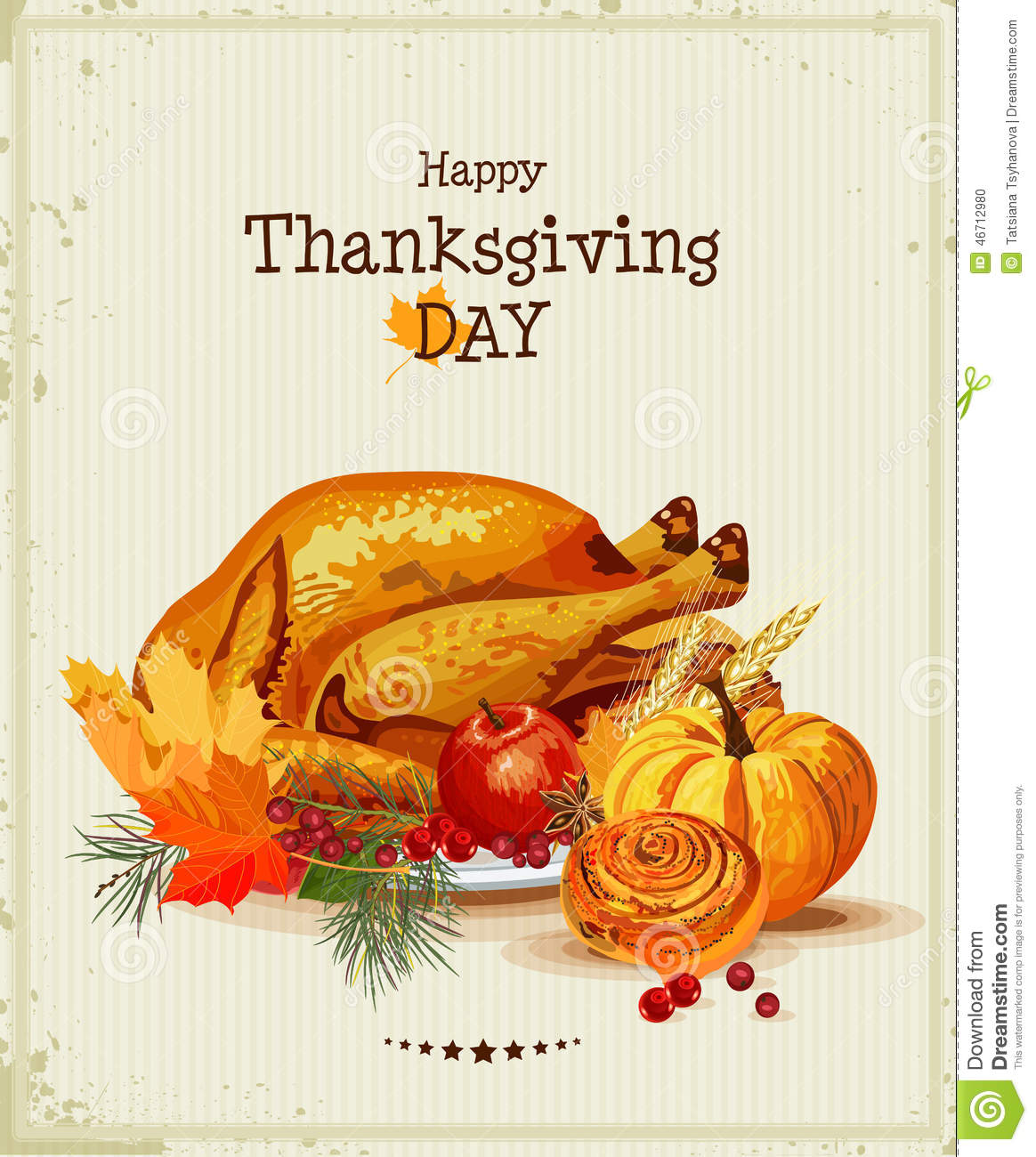 Thankful Wallpaper Quotes Thanksgiving Day Greeting Card With Turkey Pumpkin