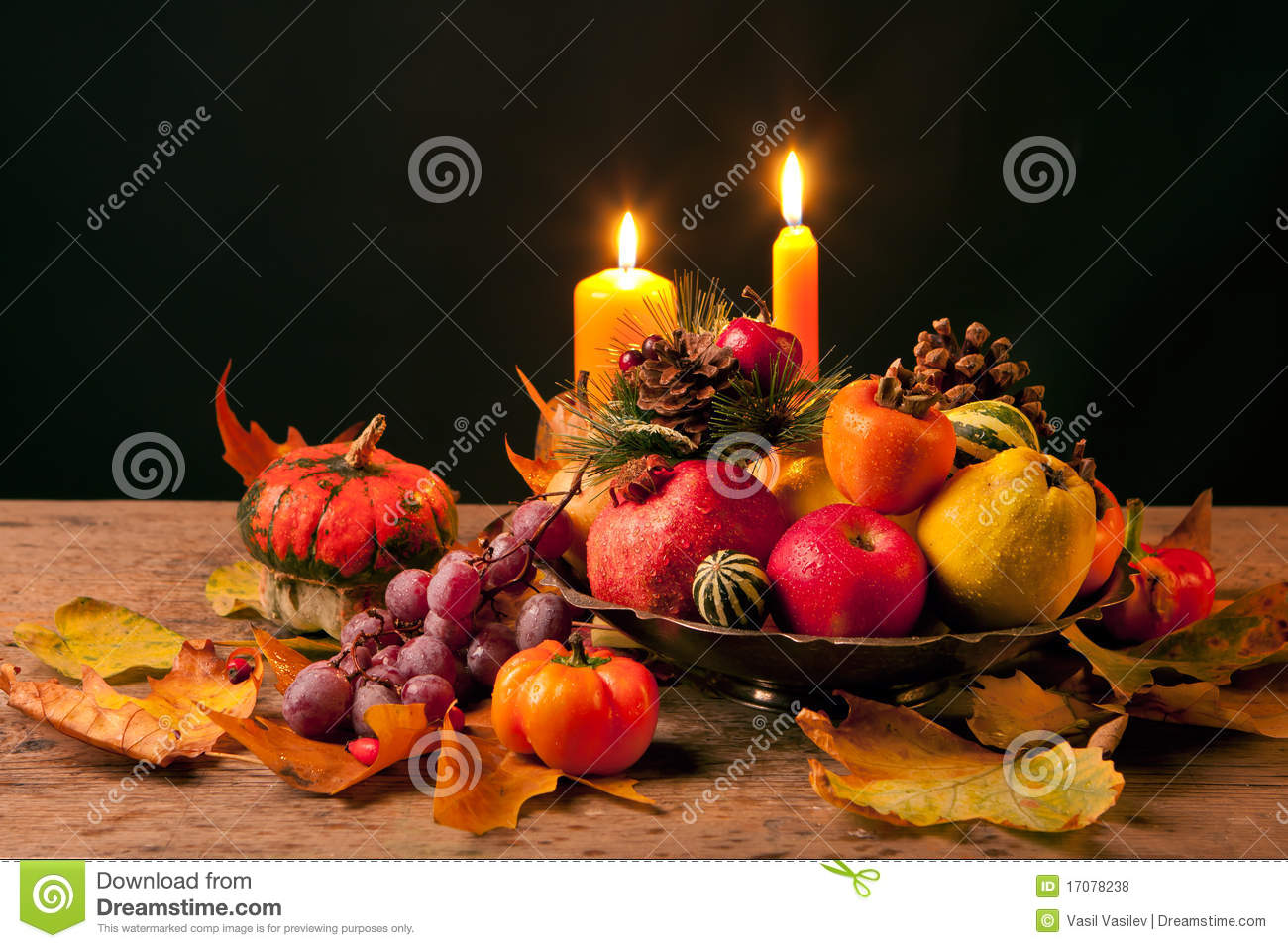 Fall Give Thanks Wallpaper Thanksgiving Still Life Stock Photo Image Of Candle