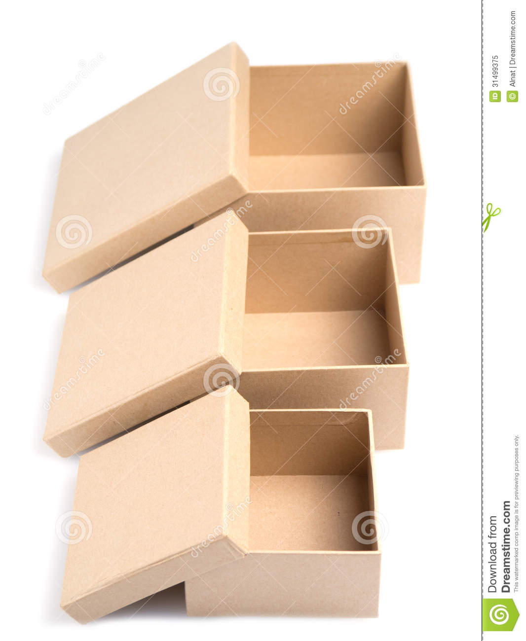 Big W Photo Sizes Three Boxes Stock Image Image Of Background Empty Small