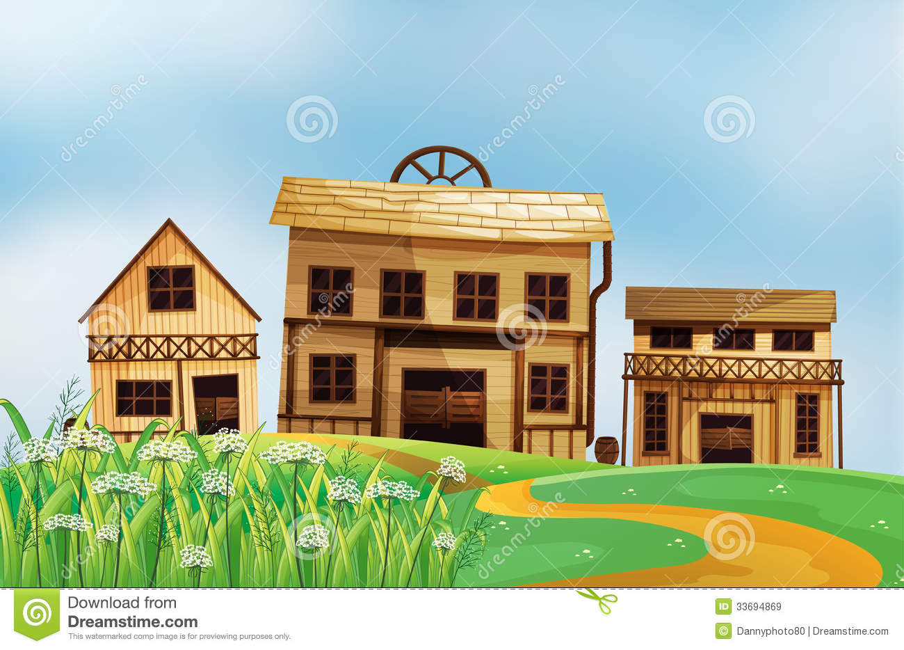 What Are The Different Styles Of Homes Three Different Styles Of Wooden Houses Stock Illustration