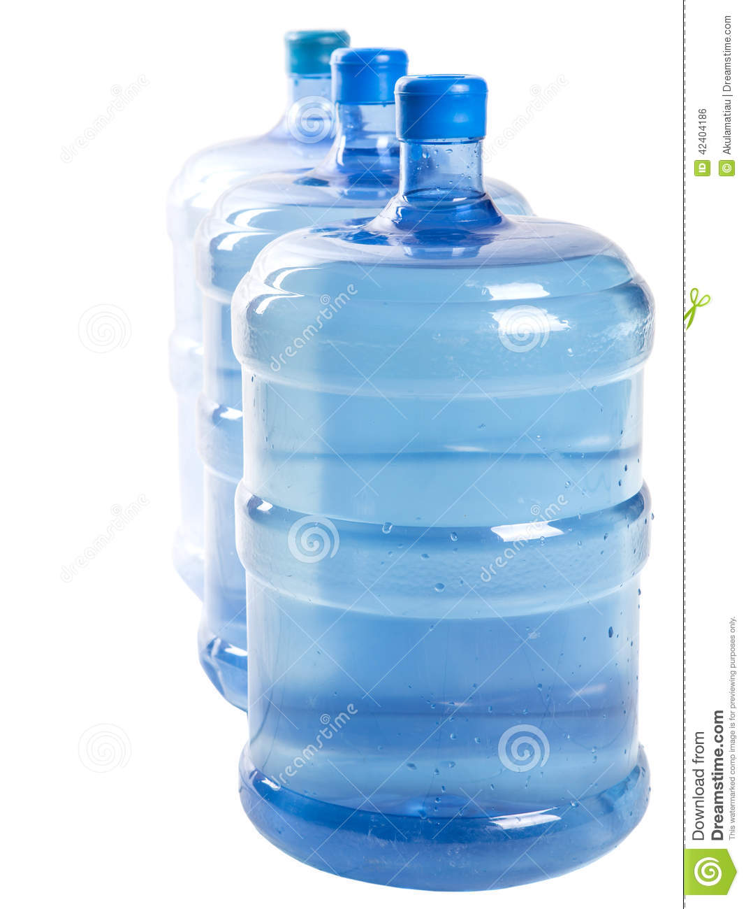 Large Watering Cans For Sale Three Large Mineral Water Containers V Stock Photo Image