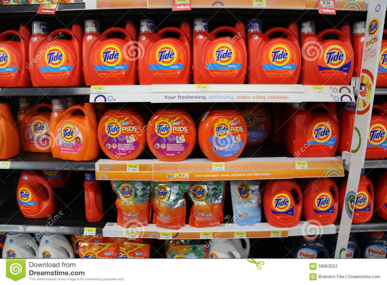 Waschmittel Clipart Tide Laundry Detergent Editorial Photography Image 58953552