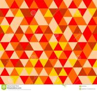 Tile Vector Background With Yellow, Red And Brown Triangle