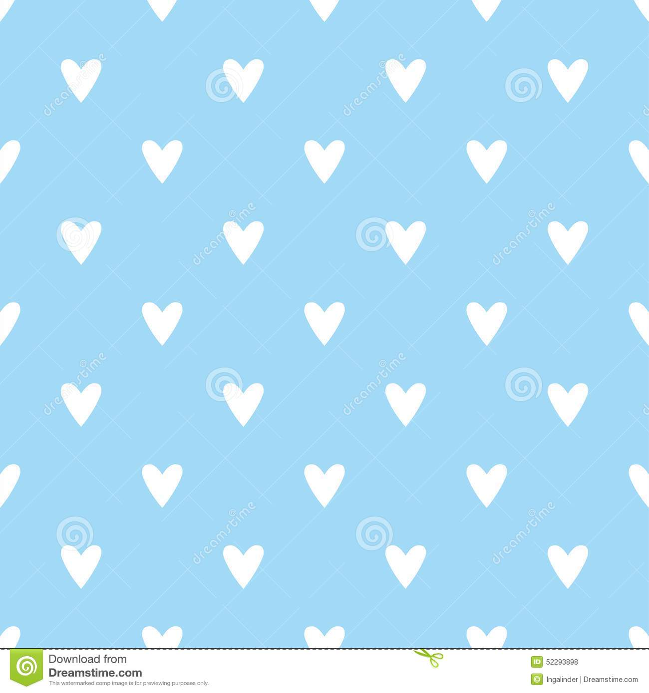 Animated Fish Wallpaper Hd Tile Vector Pattern With White Hearts On Blue Background