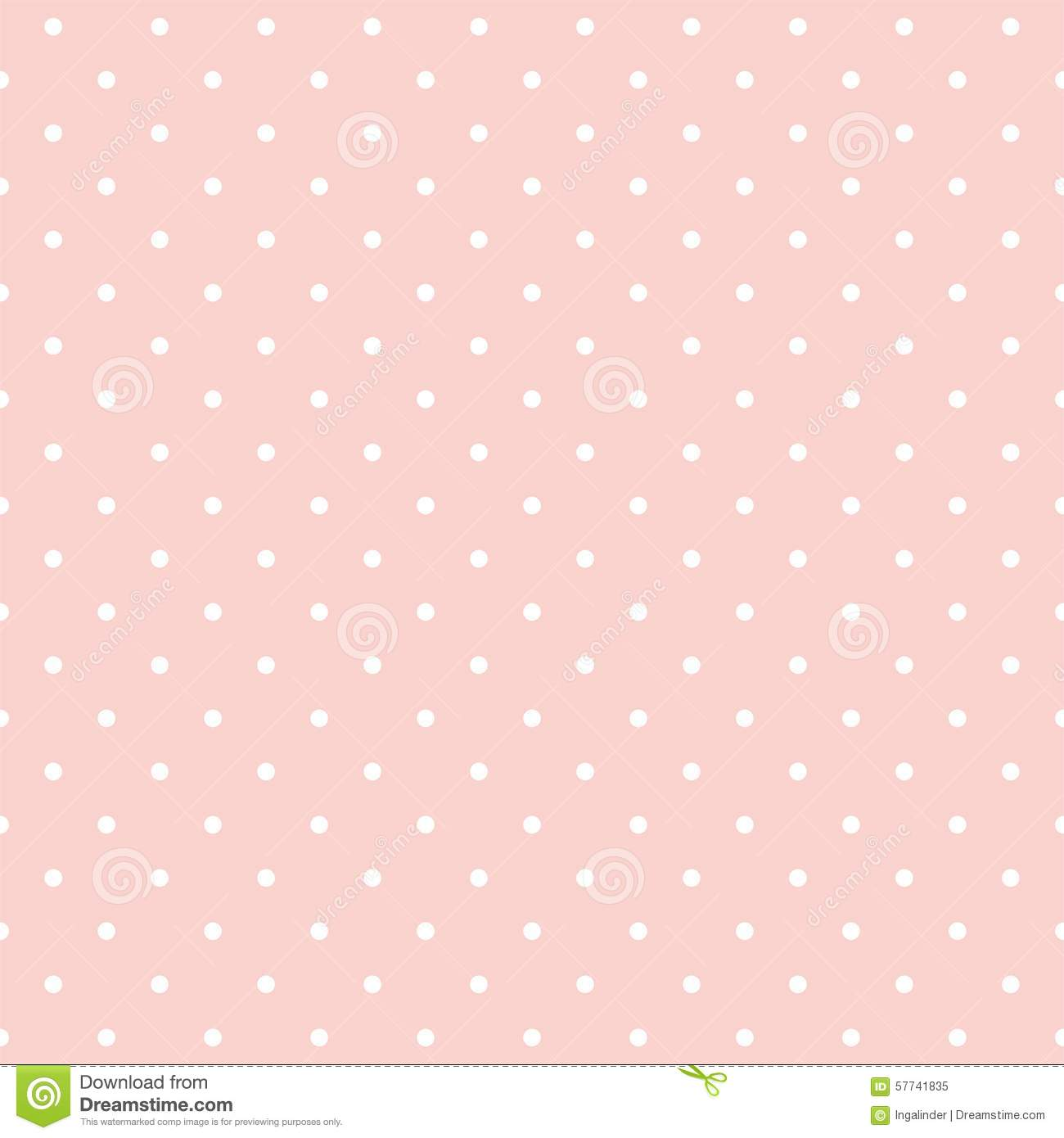 Baby Girl Nursery Wallpaper Borders Tile Vector Pattern With White On Pink Background Stock
