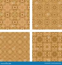 Tiled Mosaic Floor Design Set Stock Vector - Image: 63203439