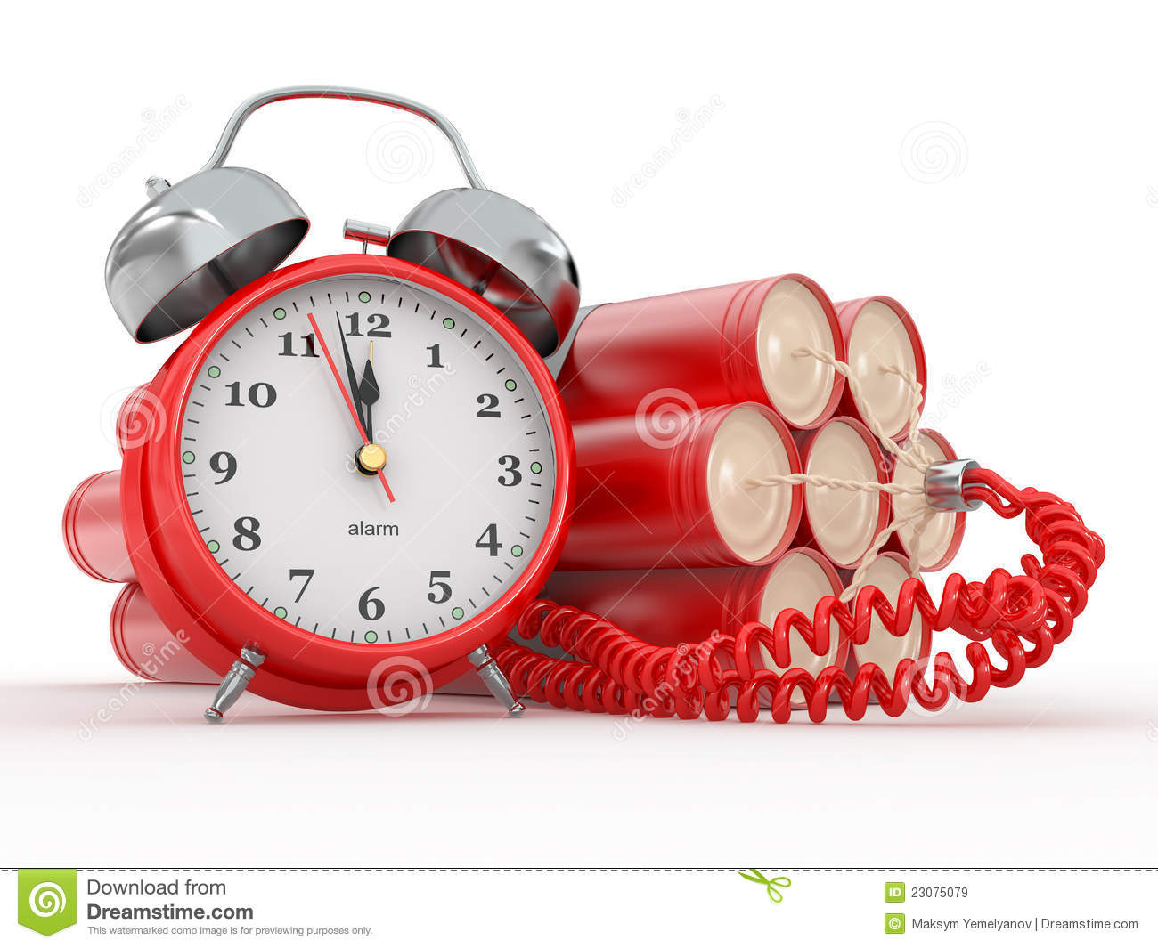 Time Bomb With Alarm Clock Detonator Dynamit Royalty Free - Online Alarm Clock Bomb