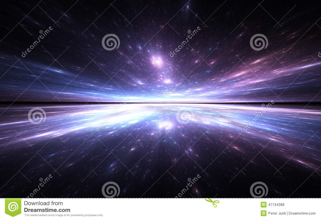 Ocean 3d Dynamic Wallpaper Time Warp Background Traveling In Space Stock