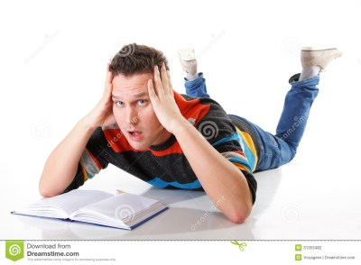 Tired College Student After Hard Work For Exam Stock Photography - Image: 31353482