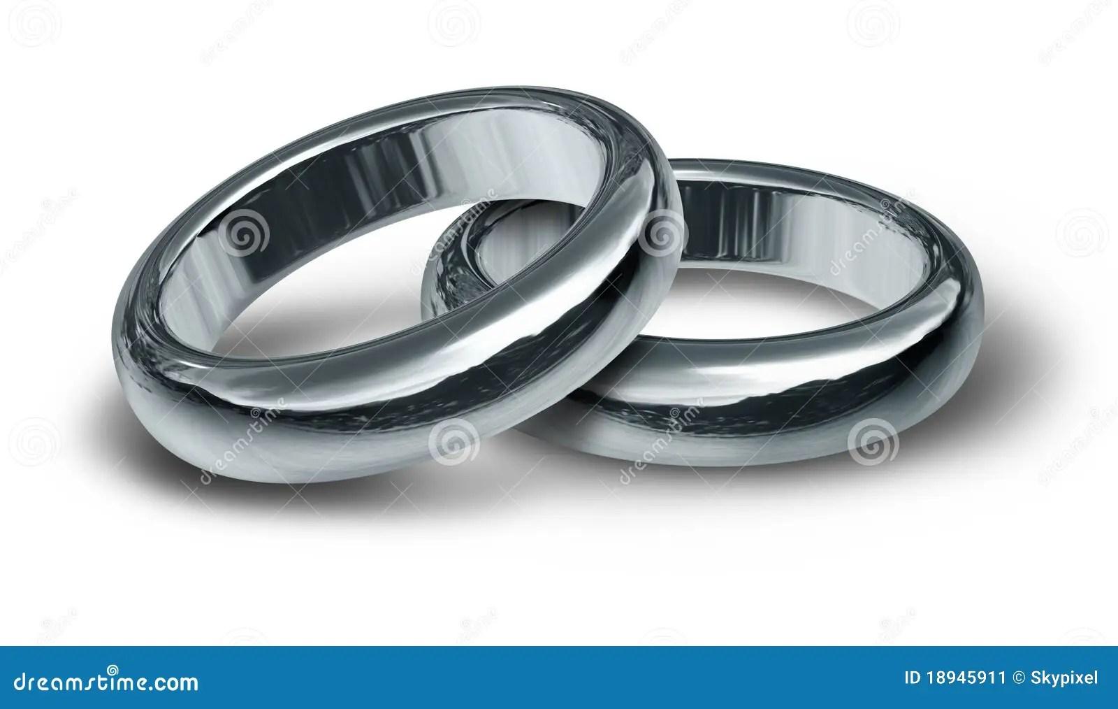 stock image titanium silver wedding rings symbol image silver wedding rings Titanium and silver wedding rings symbol