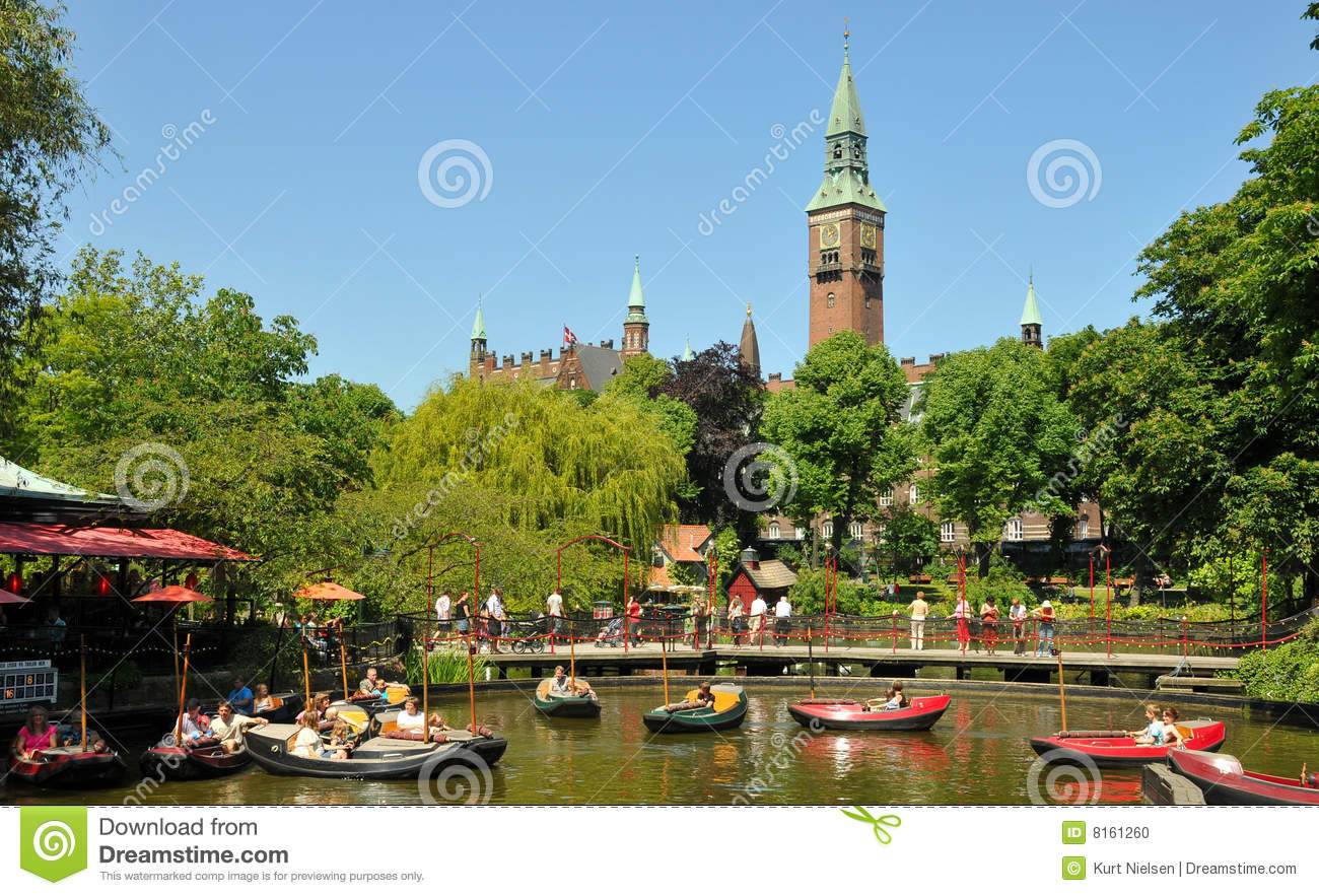 Tivoli Amusement Park Aarhus Tivoli Amusement Park Stock Photo Image 8161260