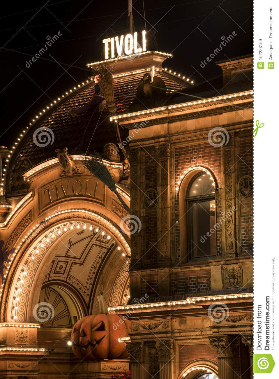 Tivoli Gardens Editorial Stock Image Image Of Attractions 102223159