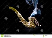 Tobacco Pipe With Smoke Stock Photo - Image: 12560960