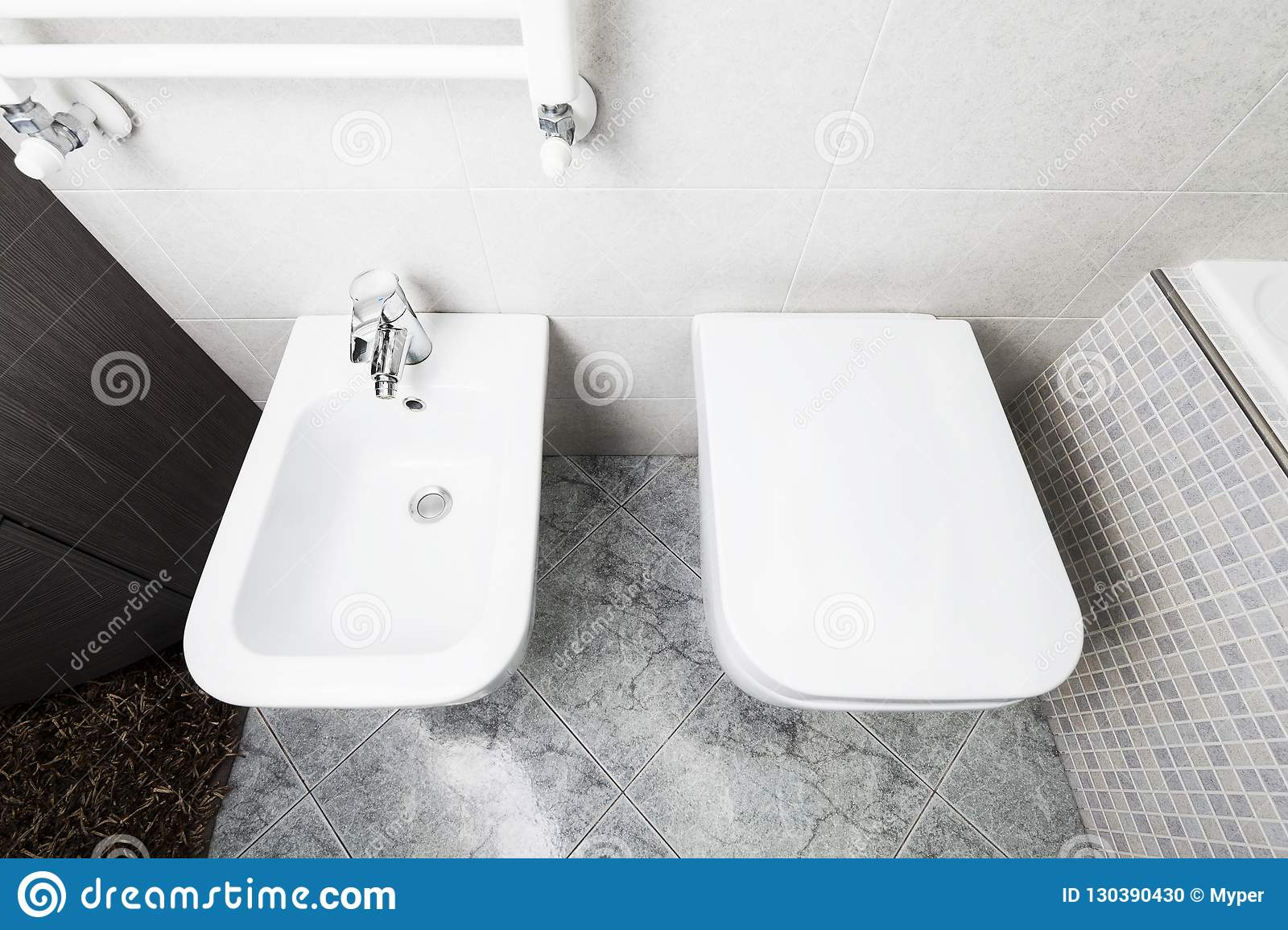 Bidet Toilette Toilette And Bidet From Above Stock Photo Image Of Home Indoor
