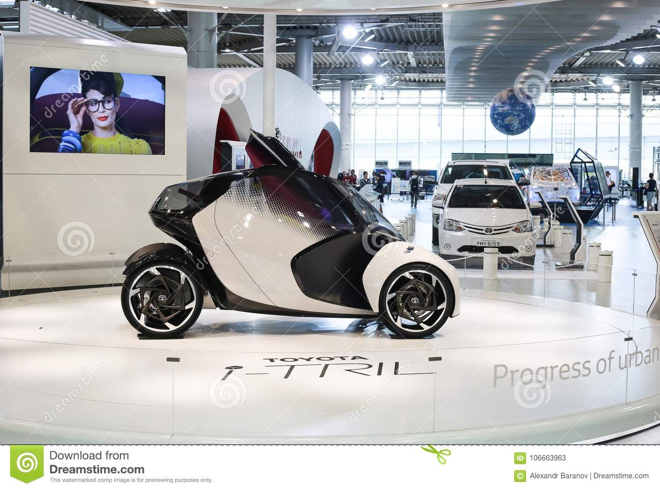 Vehicle Manufacturers In Japan Tokyo Japan July 10 2017 Toyota Concept Cars I Tril