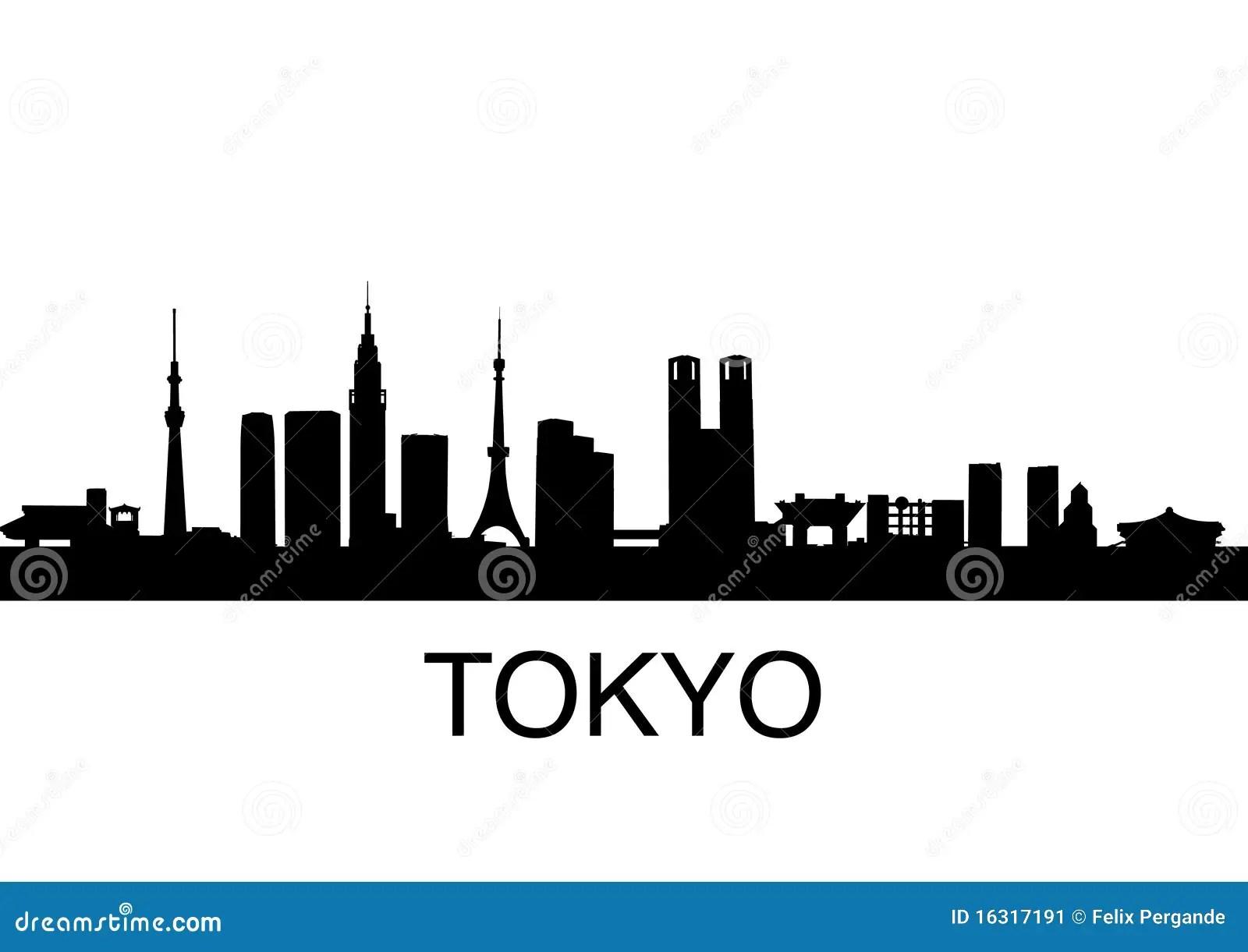 Skyline Car Wallpaper Hd Tokyo Skyline Stock Vector Illustration Of Japanese
