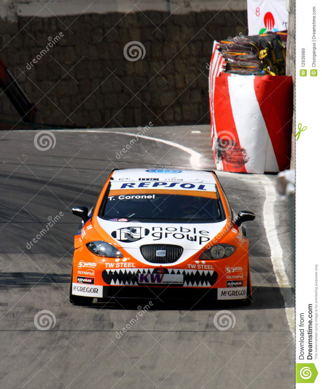 Tom Coronel Tom Coronel With Seat Lion Editorial Stock Image Image Of Lion