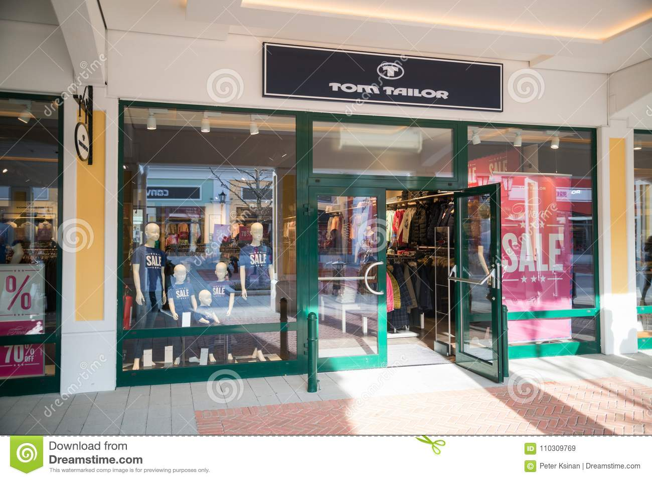 Tom Railor Tom Tailor Store In Parndorf Austria Editorial Stock Image