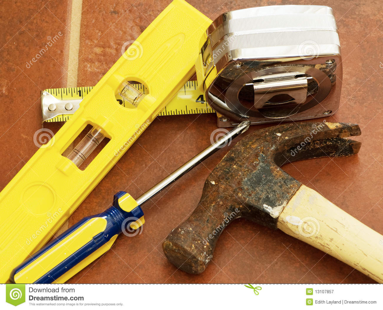 Countertop Measuring Tool Tools For Home Improvement Royalty Free Stock Photography