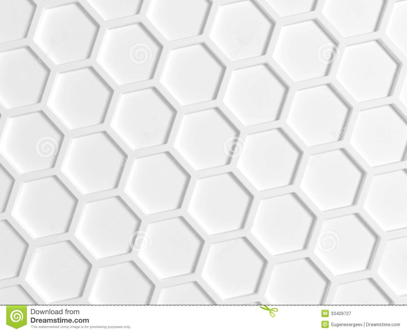 Hexagon Wallpaper 3d Top View Of White Honeycomb Pattern Royalty Free Stock