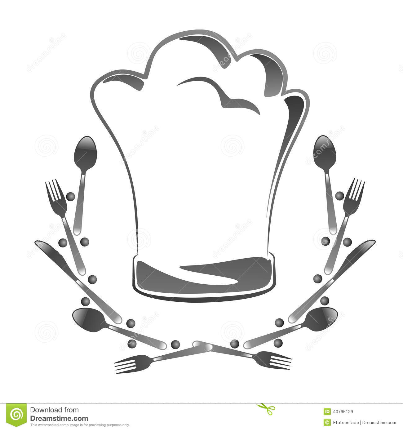 Chapeau De Cuisinier Toque Stock Illustration Image 40795129