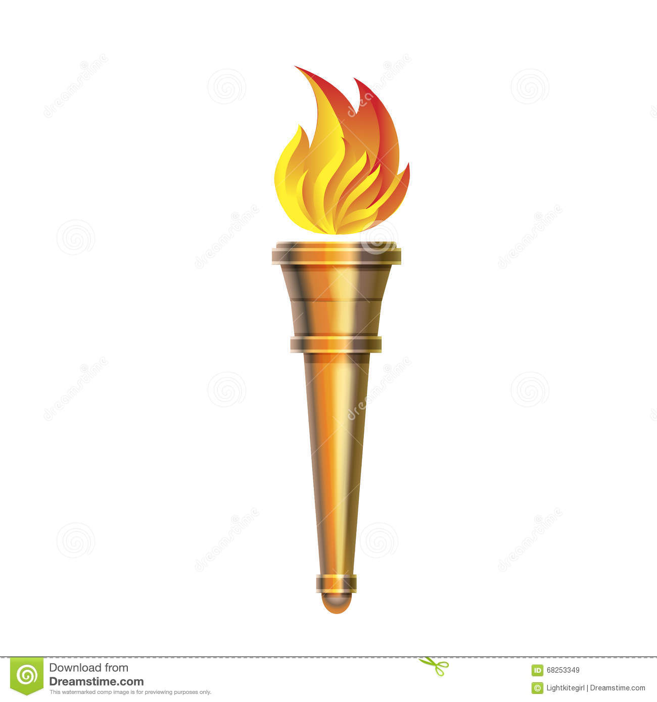 Indian Flag Hd 3d Wallpaper Torch Icon Vector Hot Flame Power Flaming Stock Vector